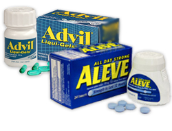 Advil and Aleve as basic treatment options for whiplash