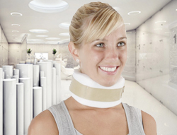 foam neck collar to treat whiplash