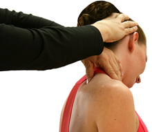 woman receiving physiotherapy treatment