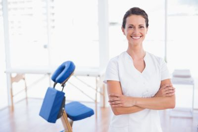 Smiling Massage Therapist
