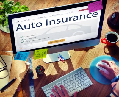 someone looking online for auto insurance