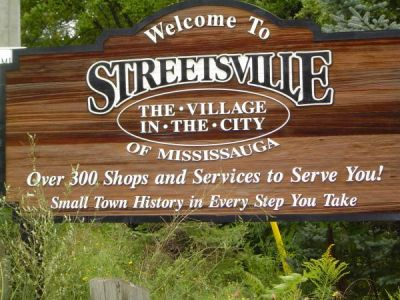 Welcome to Streetsville Sign