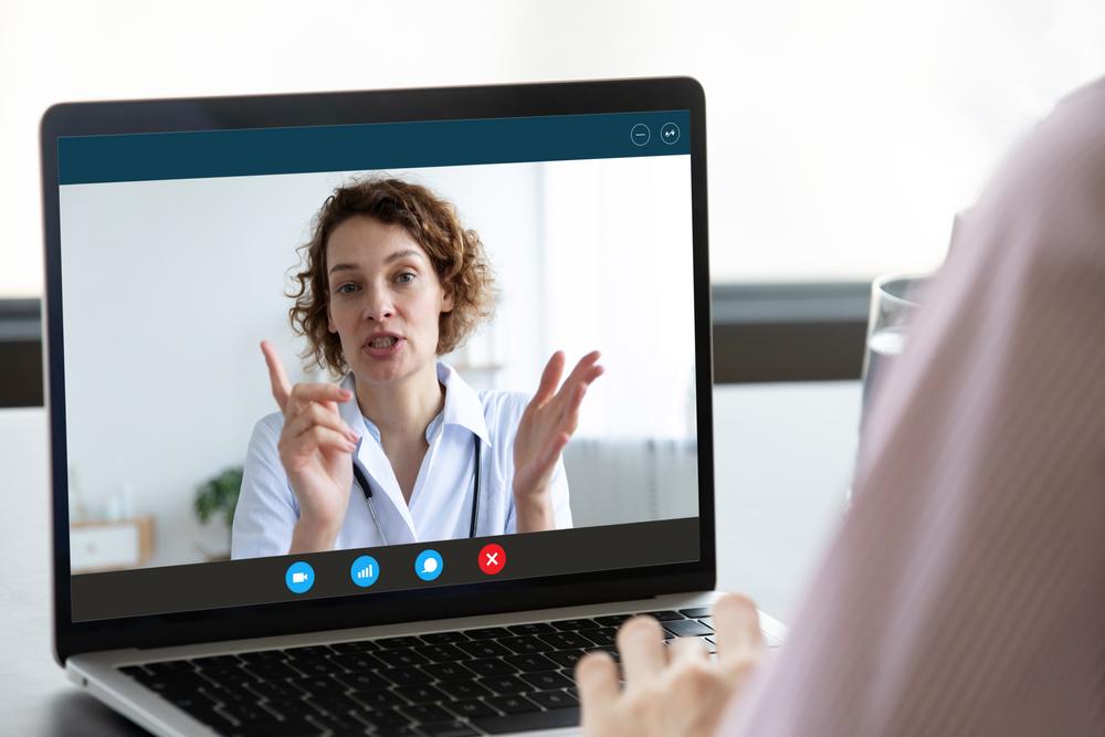 Therapist providing virtual care